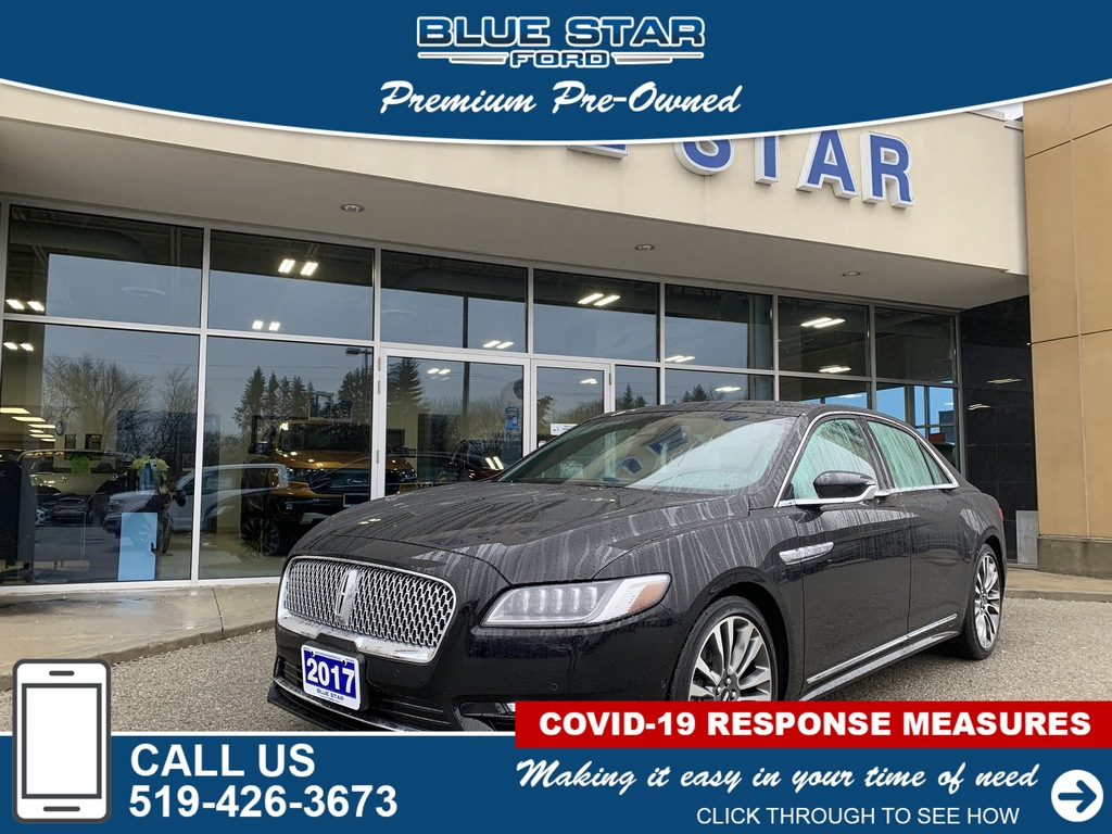 2017 Lincoln Continental Loaded, Reclining Rear Seats, All Wheel Drive