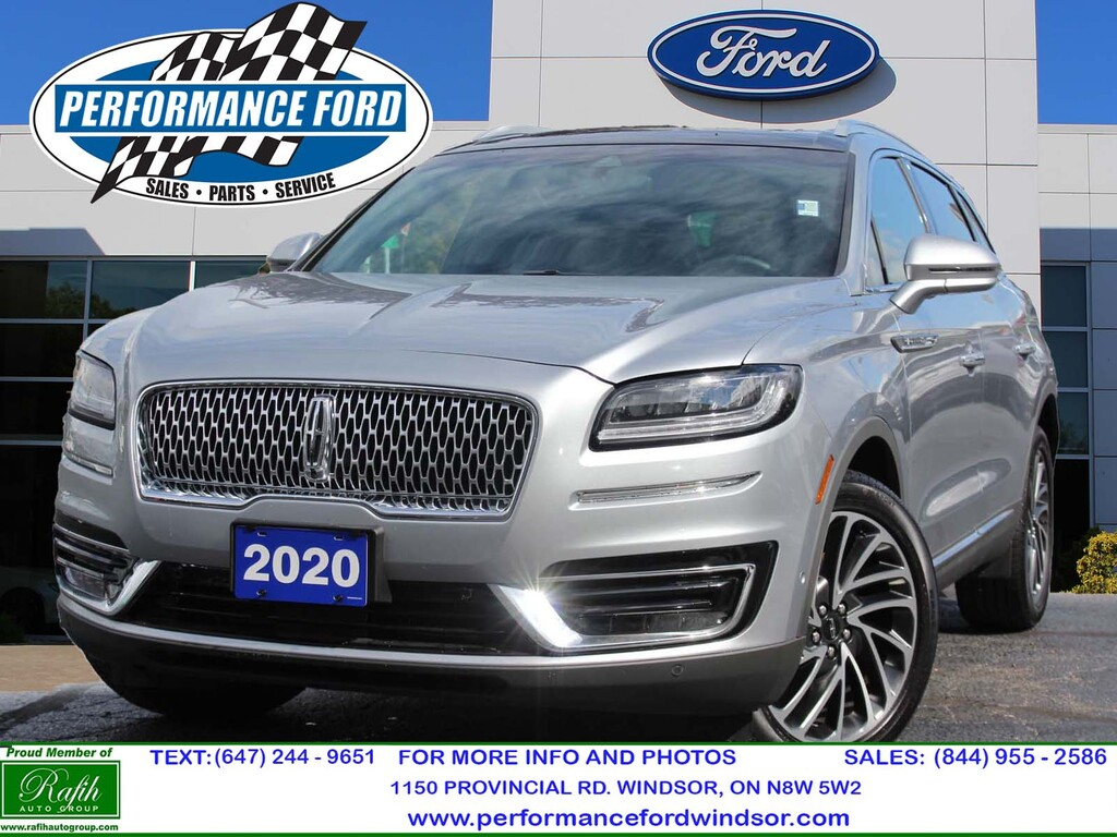 2020 Lincoln Nautilus Loaded, AWD, Pano Roof