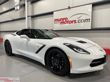2019 Chevrolet Corvette 2dr Stingray Cpe w-1LT NPP Z51 style black wheels