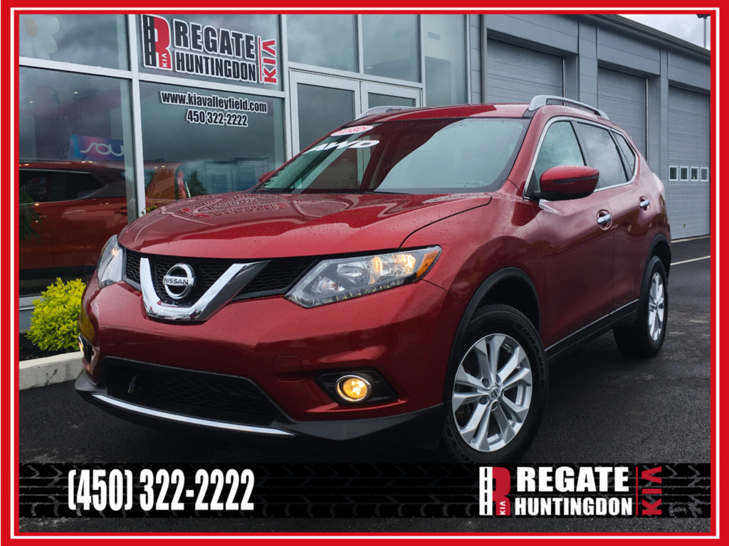 2016 Nissan  Rogue SV-awd (push-start) & démarreur à distance