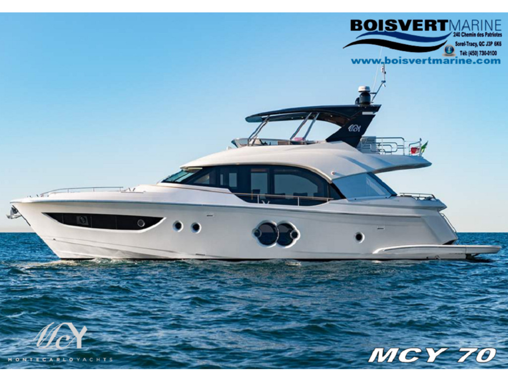 2021 Monte Carlo Yachts boat for sale, model of the boat is  Mcy 70 & Image # 1 of 24