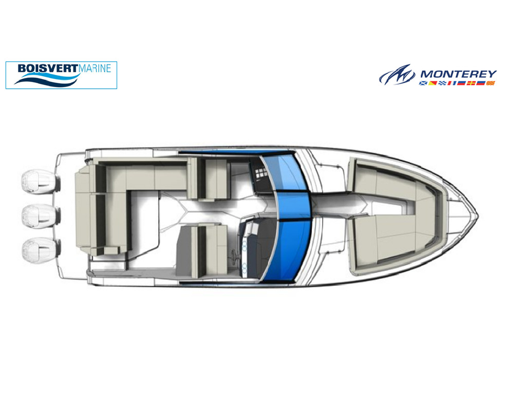 2021 Monterey boat for sale, model of the boat is 385 Se & Image # 2 of 8