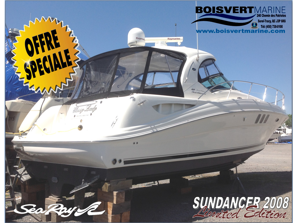 2008 Sea Ray boat for sale, model of the boat is Sundancer 40 & Image # 1 of 24