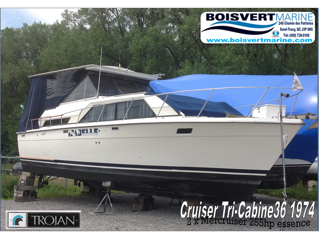 1974 Trojan boat for sale, model of the boat is Cruiser 36  & Image # 1 of 21