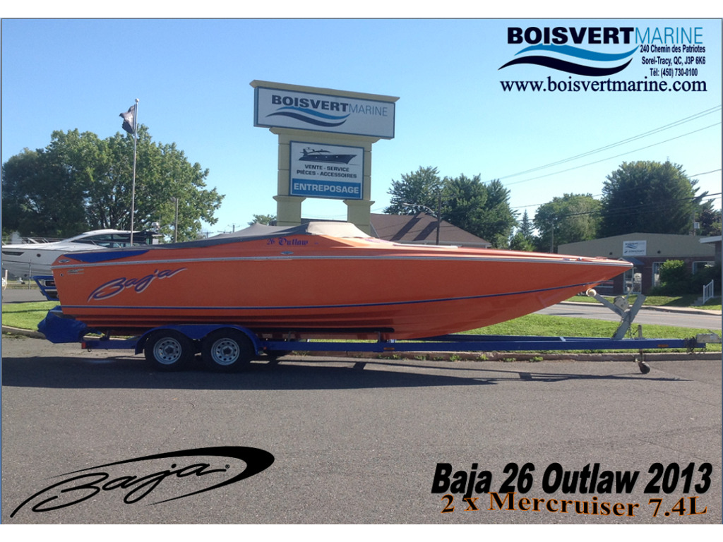2013 Baja boat for sale, model of the boat is 26 Outlaw & Image # 1 of 19