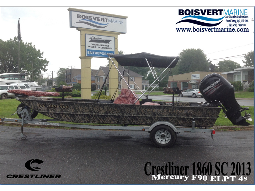 2013 Crestliner boat for sale, model of the boat is 1860 Sc & Image # 1 of 15