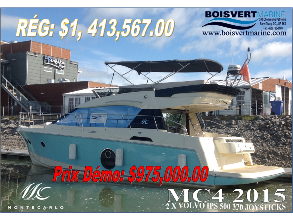 2015 BENETEAU MONTE CARLO 4 for sale