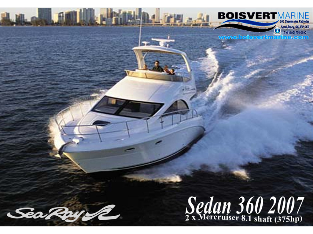 2007 Sea Ray boat for sale, model of the boat is Sedan 360 & Image # 19 of 19