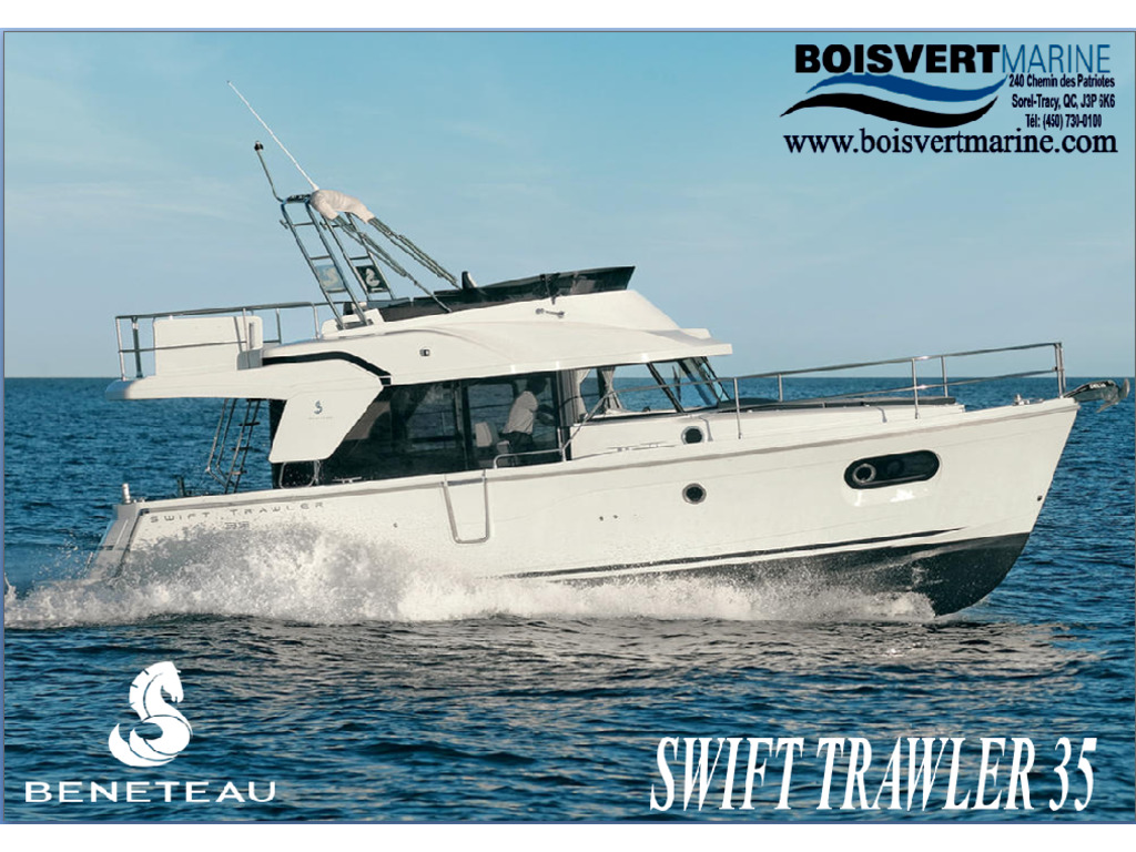 2021 Beneteau boat for sale, model of the boat is Swift Trawler 35 & Image # 1 of 10