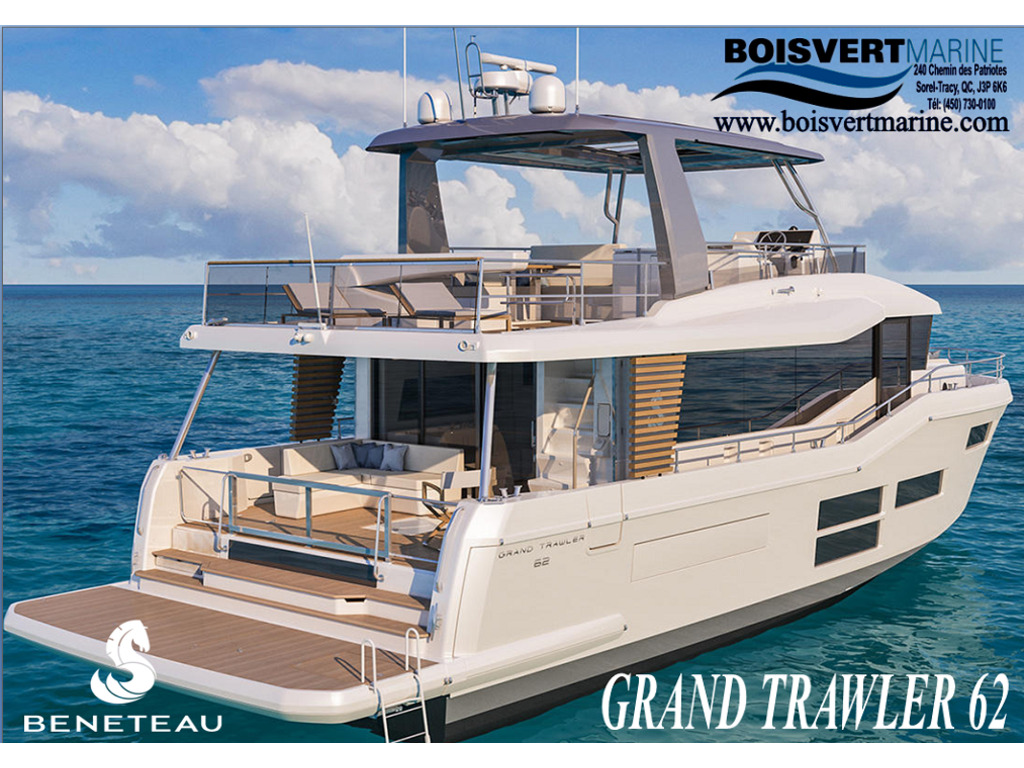 2021 Beneteau boat for sale, model of the boat is Gran Trawler 62 & Image # 1 of 9