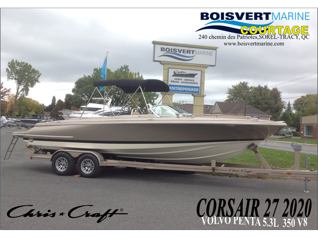 2020 Chris Craft boat for sale, model of the boat is Corsair 27 & Image # 1 of 12