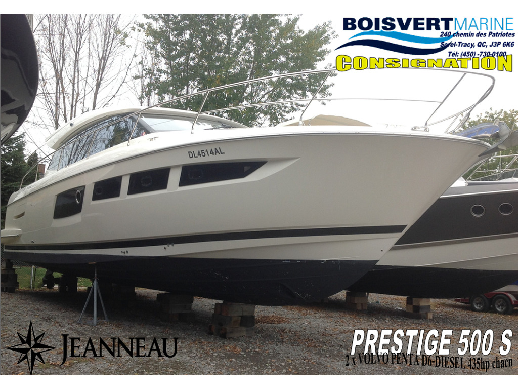 2013 Jeanneau boat for sale, model of the boat is Prestige 500 S & Image # 1 of 26