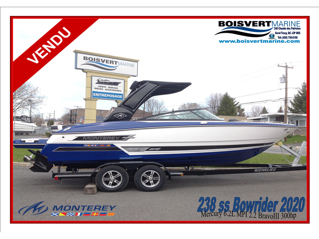 2020 Monterey boat for sale, model of the boat is 238 Ss & Image # 1 of 21