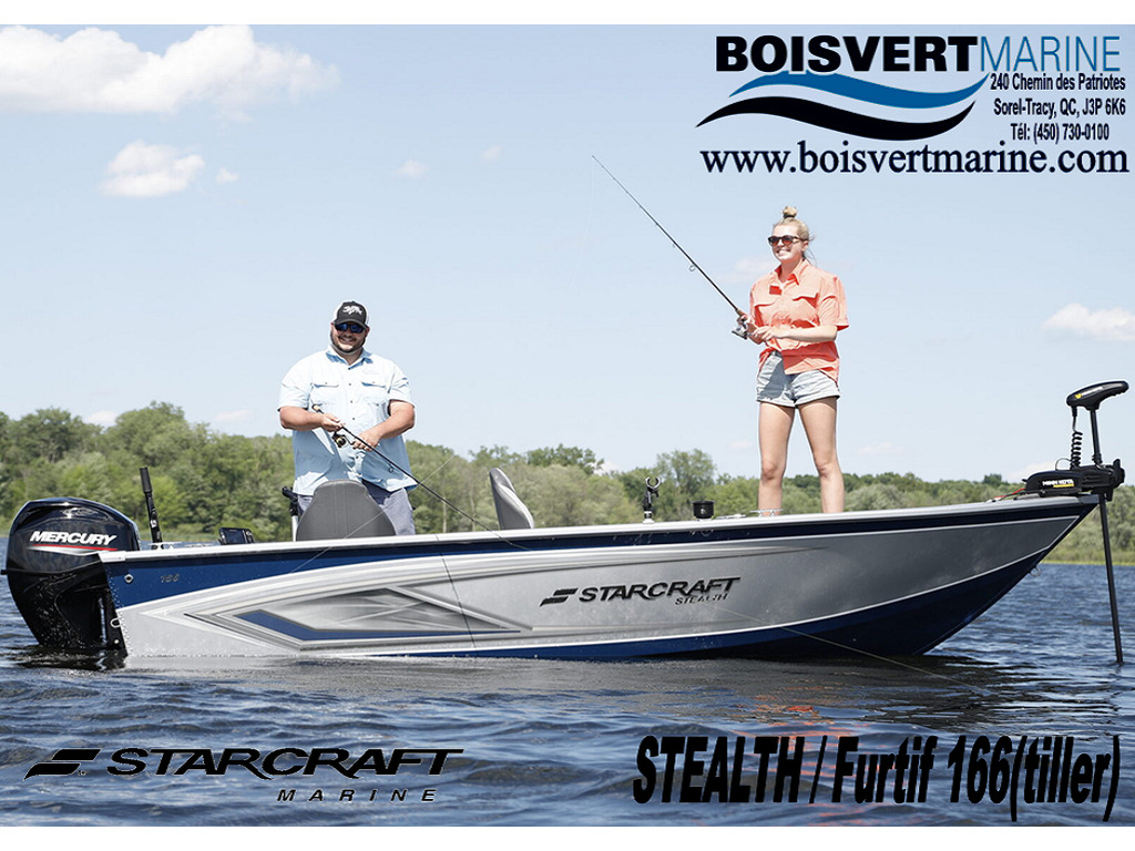 2021 Starcraft boat for sale, model of the boat is Furtif-stealth 166 (barre Franche-tiller) & Image # 1 of 12