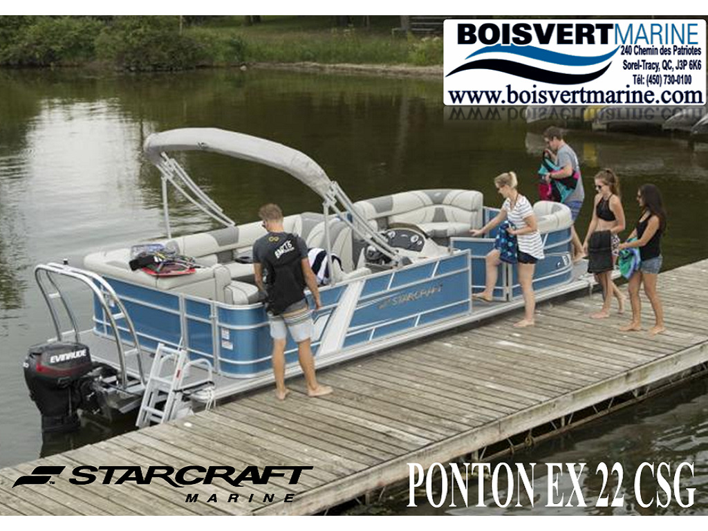 2021 Starcraft boat for sale, model of the boat is Ponton Ex 22 Csg & Image # 1 of 6