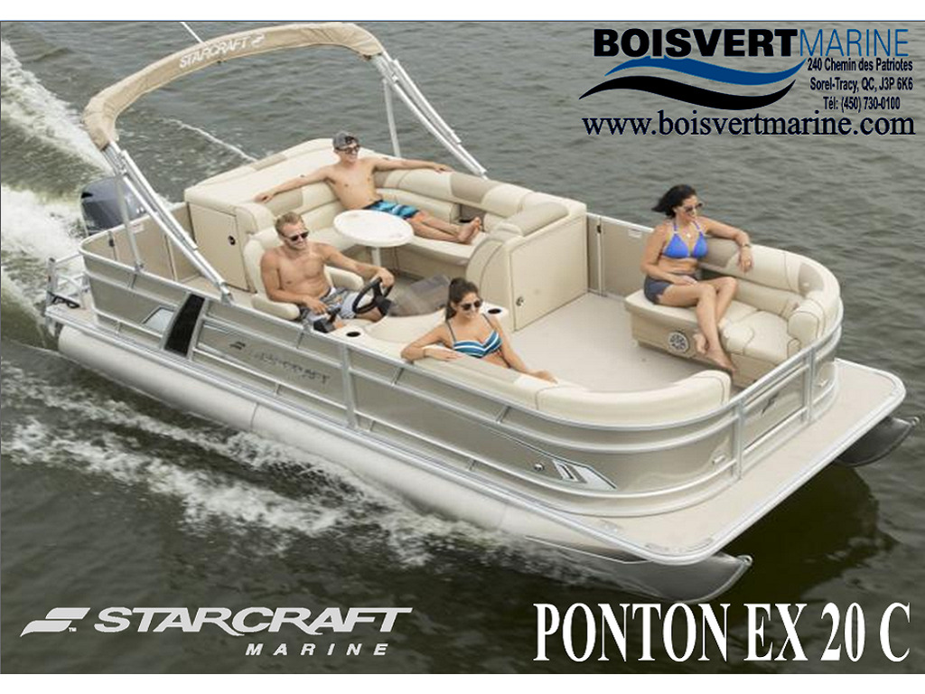 2021 Starcraft boat for sale, model of the boat is Ponton Ex 20 C & Image # 1 of 5