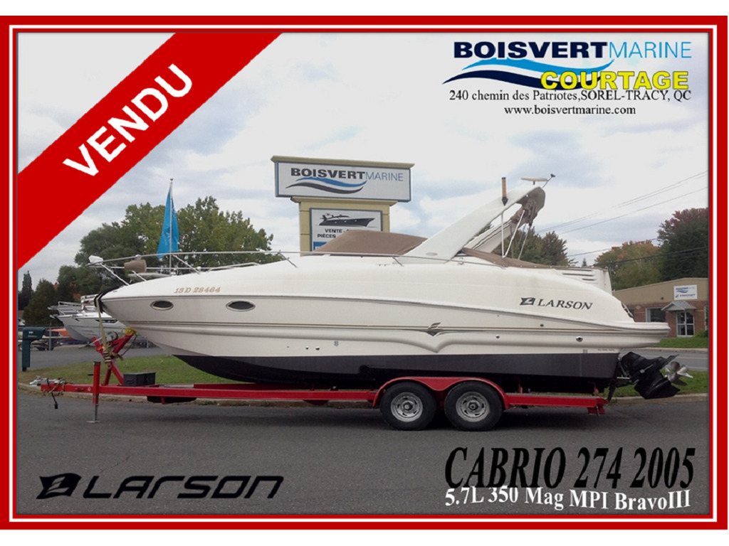 2005 Larson boat for sale, model of the boat is Cabrio 274 & Image # 1 of 18