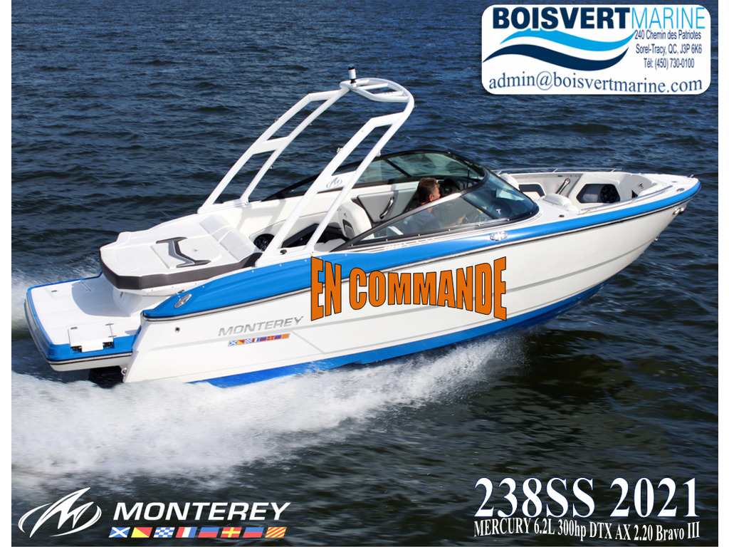 2021 Monterey boat for sale, model of the boat is 238ss & Image # 1 of 4