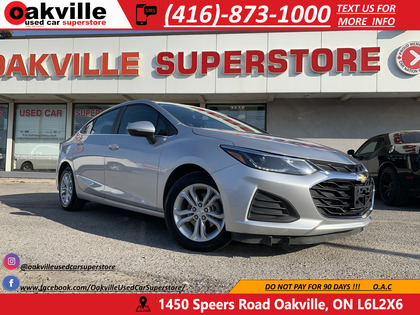 used 2019 Chevrolet Cruze car, priced at $17,550