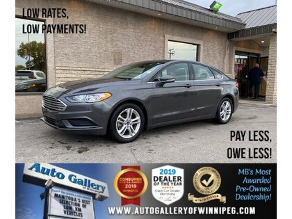 used 2018 Ford Fusion car, priced at $17,993