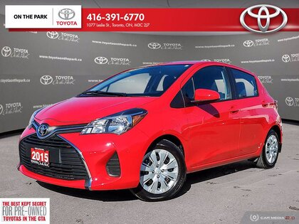 used 2015 Toyota Yaris car, priced at $14,298